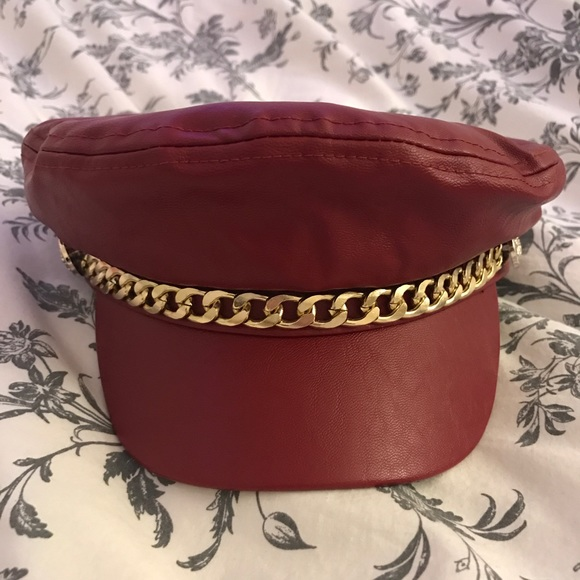 dd06d674c70e1 Forever 21 Accessories - NWOT Faux Leather Baker Boy Cap